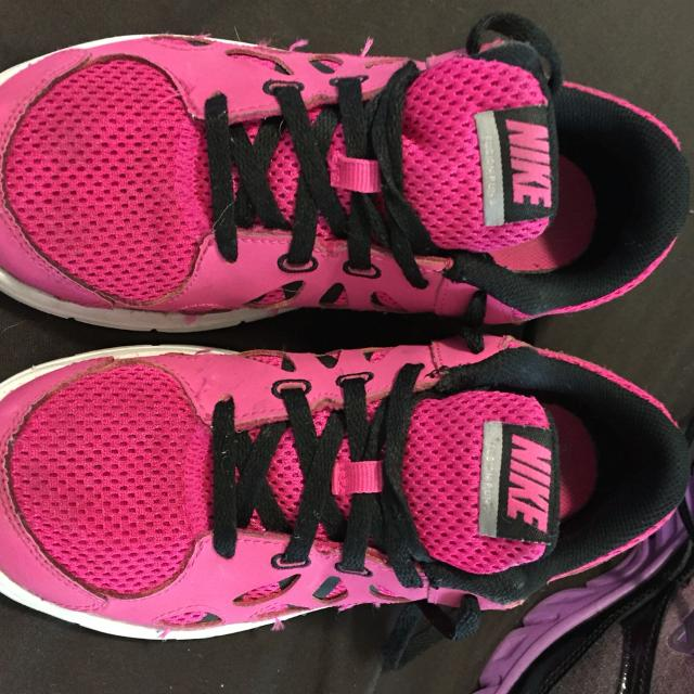 Best Two Pair Of Girls Tennis Shoes Size 2 Preowned Good Condition