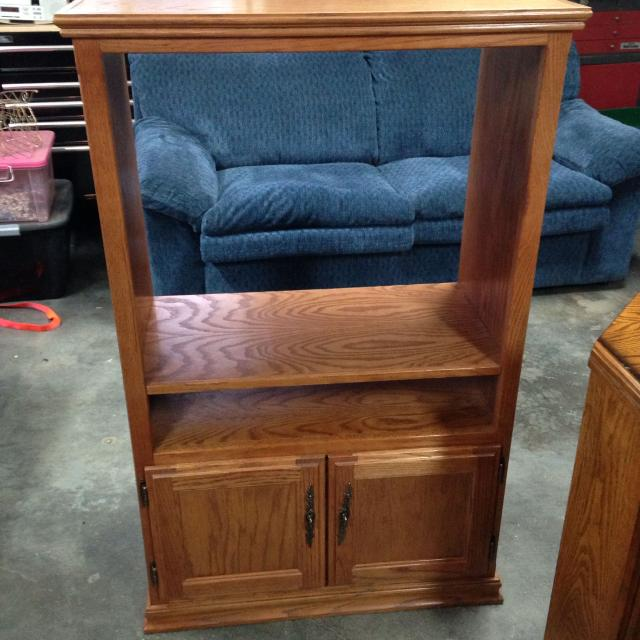 Find More Tv Stand All Wood 49 5 Inches Tall By 30 Inches Wide