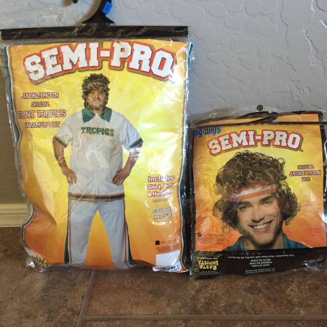 mens xxl jackie moon semi pro halloween costume wig included