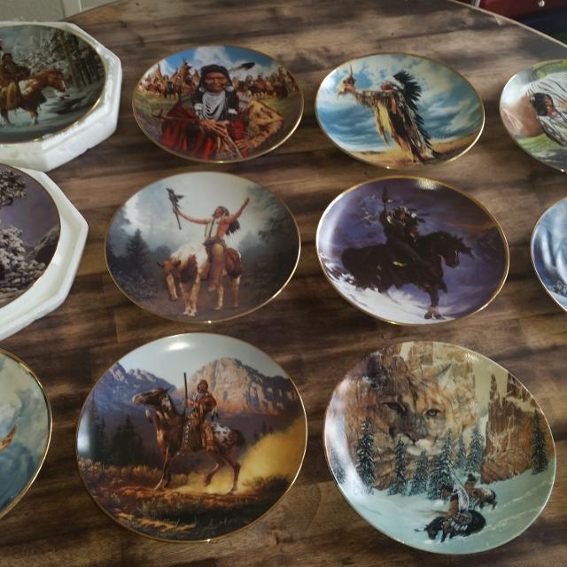 Find more Native American Plates -- Lot Of 12 **last Price Drop ...