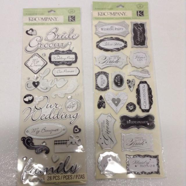 Find More Wedding Scrapbook Stickers For Sale At Up To 90 Off