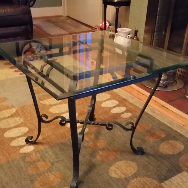 Best 1 Glass Top Wrought Iron End Tables For Sale In Nashville