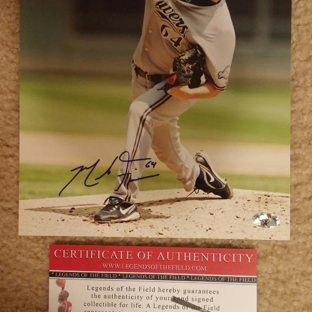 Best Authentic Mike Fiers Autographed 8×10 Photo With