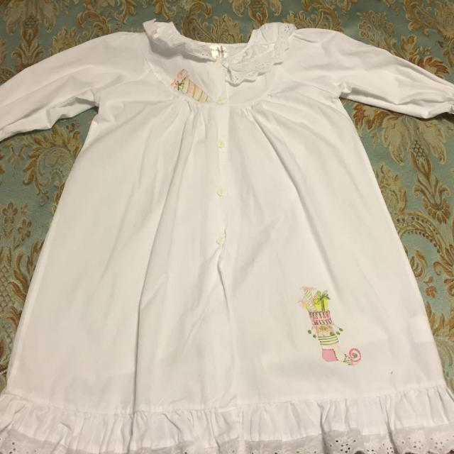 designs by beverly girls christmas nightgown size 2 3 years