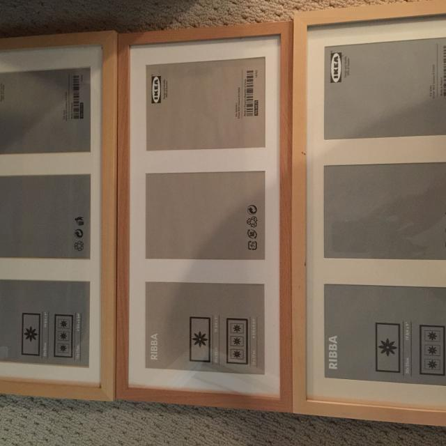 Find more 3 Ribba Ikea 3:5x7 Frames, Pine Color Wood for sale at up ...