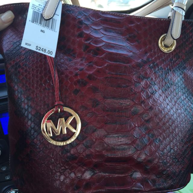 Find More Red And Black Animal Print Mk Purse For Sale At Up To 90 Off