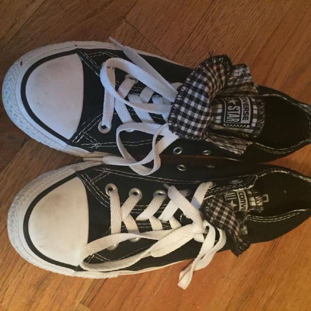 Best Checkered Pattern Black And White Converse Size 8 In Woman s. Worn Only  A Couple Of Times.  40 Firm for sale in Klamath Falls 408e6598d