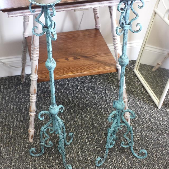 Find More Vintage Wrought Iron Floor Candle Holders 33