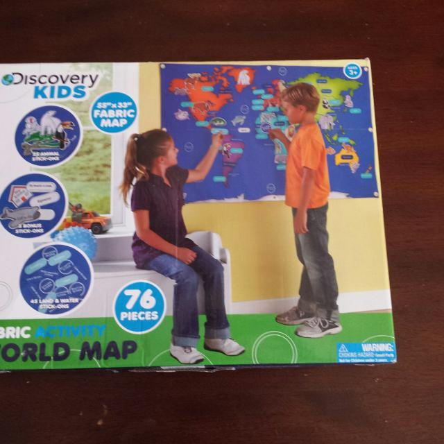 Find more discovery kids fabric activity world map for sale at up discovery kids fabric activity world map gumiabroncs Images