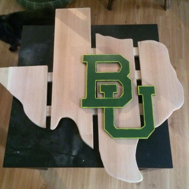 Best Baylor University Wooden Texas Wall Decor For Sale In