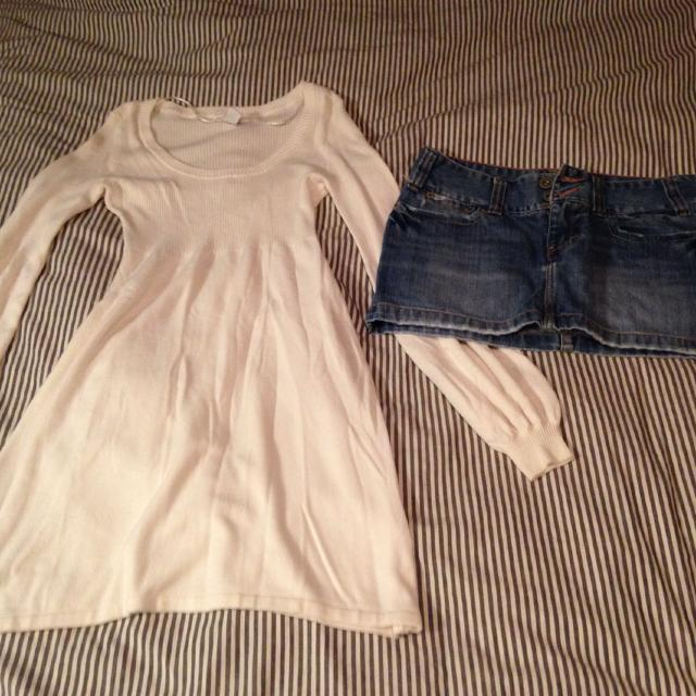 f1a9e87b4e Best Women's Xs Sweater Dress, Cream From H&m...$10. American Eagle Jean  Skirt, Size 2...$15. for sale in Aylmer, Ontario for 2019