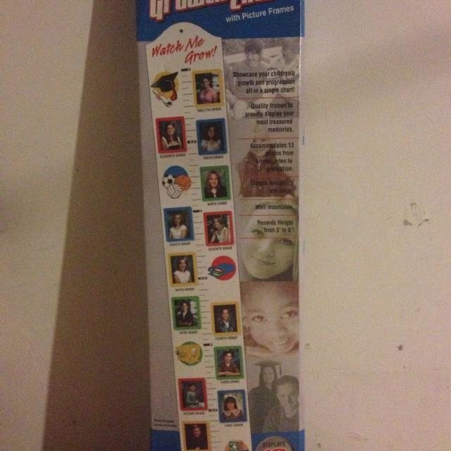 Best Bnib Watch Me Grow Growth Chart With Picture Frames For Sale