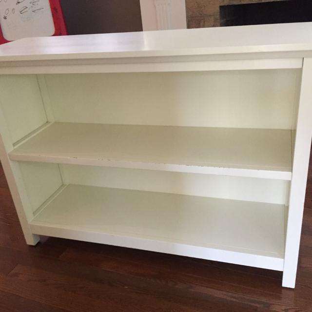 Pottery Barn Kids Cameron Bookshelf White Looks Off White