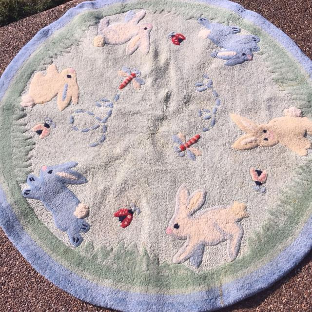 Rabbit Rug For Nursery