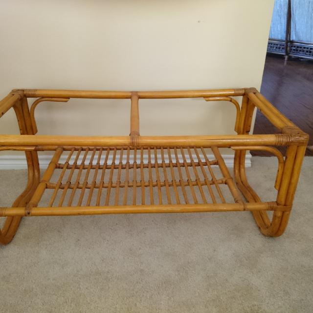 Long Bamboo Coffee Table: Best Vintage Rattan Coffee Table (needs Glass Top)...40