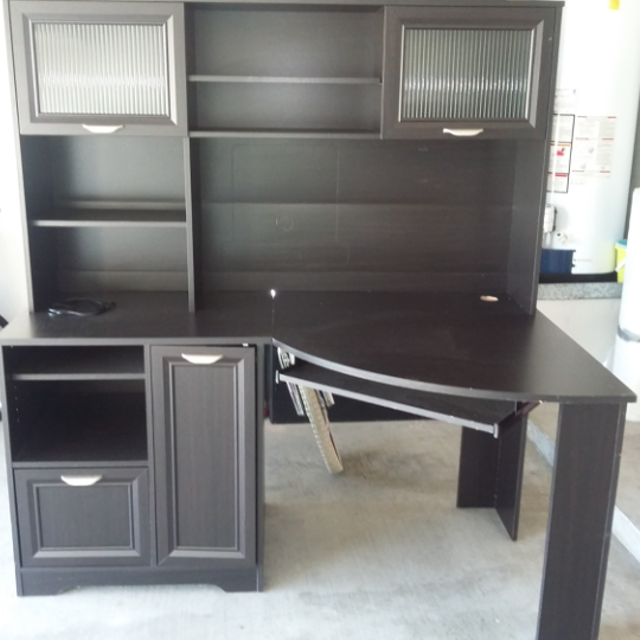 Find More Realspace Magellan Corner Desk And Hutch Bundle You Contact My Friend 979 888 3358