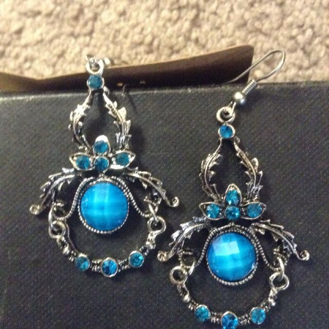 find more really cool earrings turquoise colored stones 5 nwot for