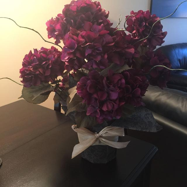 Find more beautiful purple flower arrangement from michaels silk beautiful purple flower arrangement from michaels silk flowers and from smoke pet free home mightylinksfo