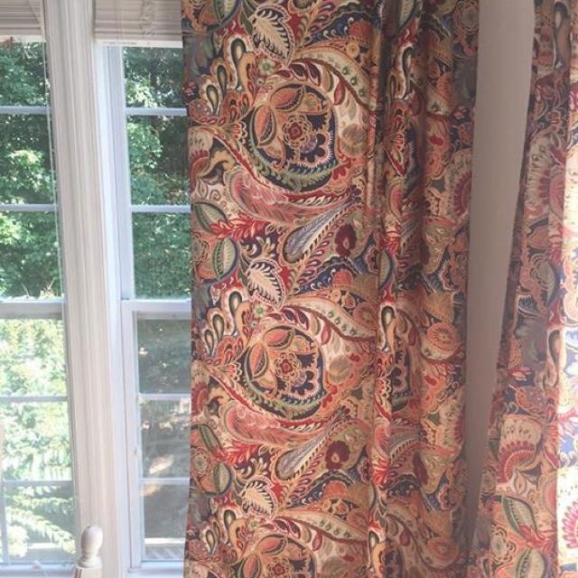 Four Pier 1 Vibrant Paisley Curtain Panels 84 40 For All 4