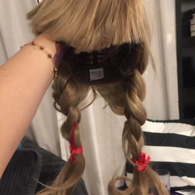 Annabelle doll/ Goldilocks wig - used once
