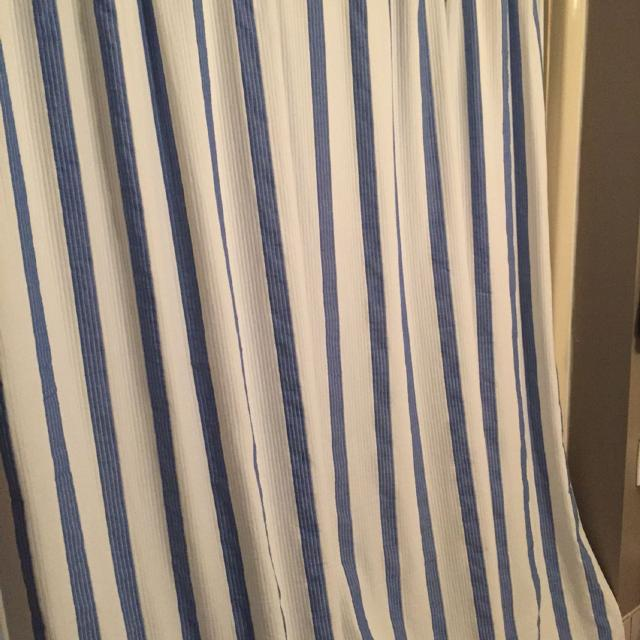 Blue And White Striped Shower Curtain Hotel Balfour Brand