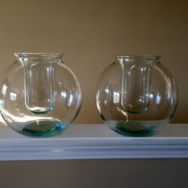 Find More Pier 1 Importsgorgeous Round Glass Vasessold As A Pair