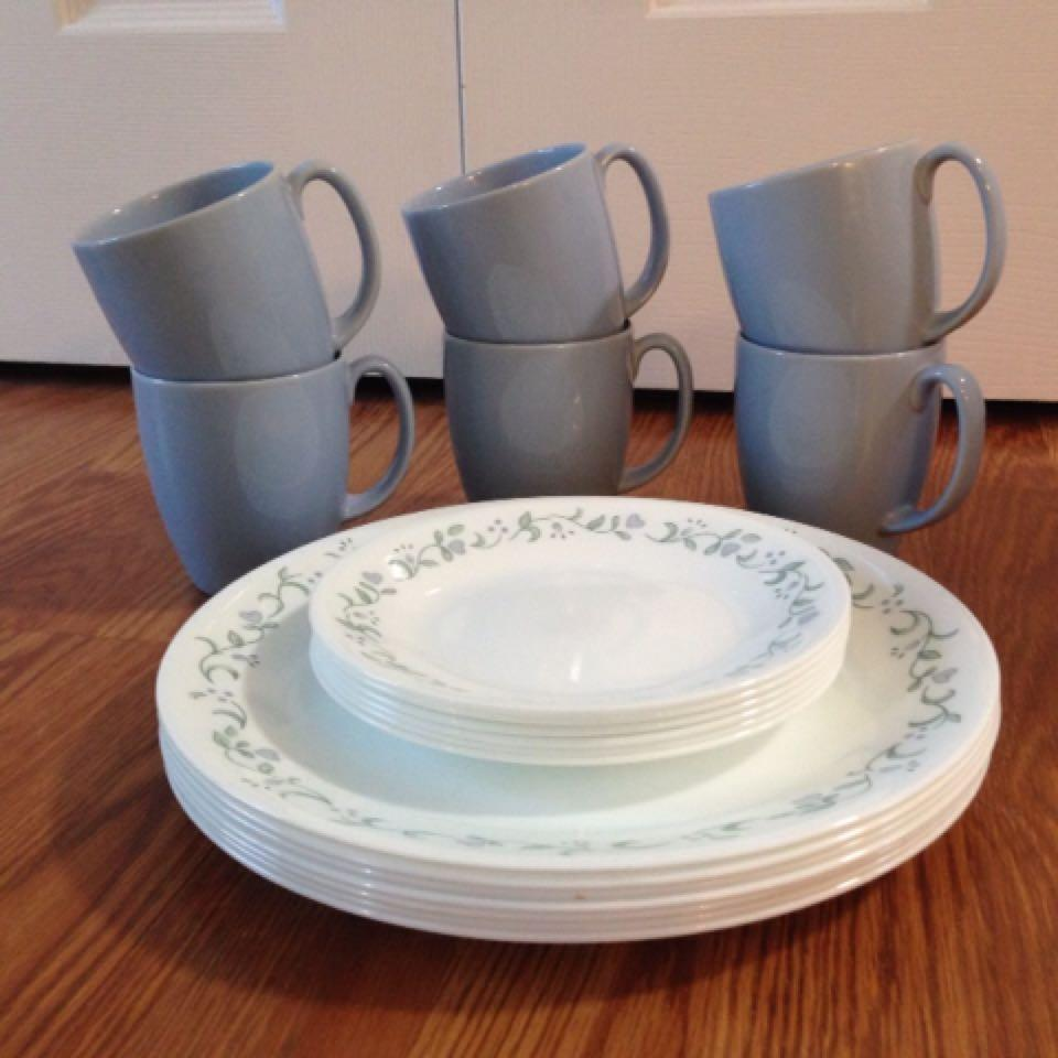 loading cor dinnerware rnd corelle livingware dishes set pc zoom cottage cottages country