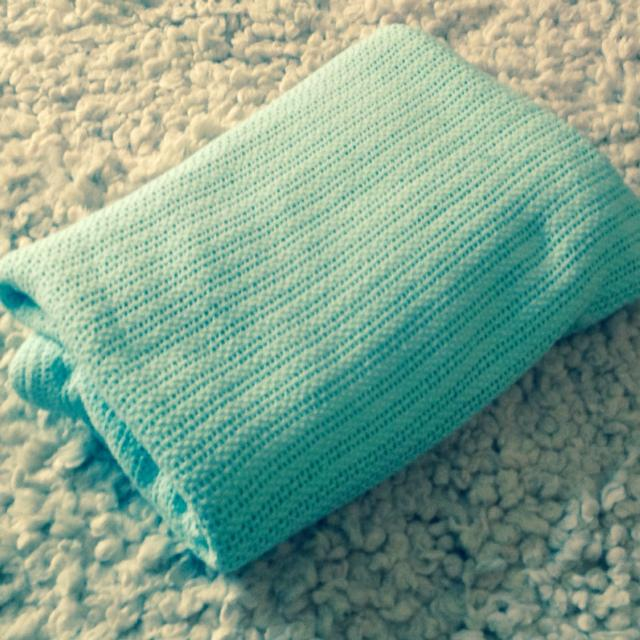 Large 100 Cotton Cable Knit Blanket In Mint Green Double Bed Or Sofa Throw