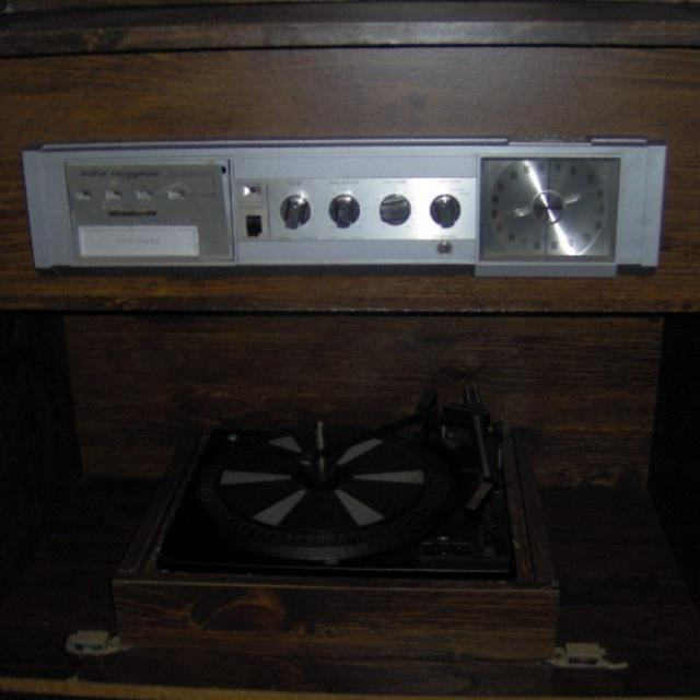 Morse Electrophonic Roll Top Desk Record Player Radio Combo