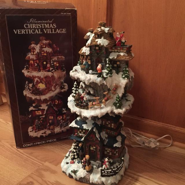 christmas vertical village lights up from costco no holds and pick up only