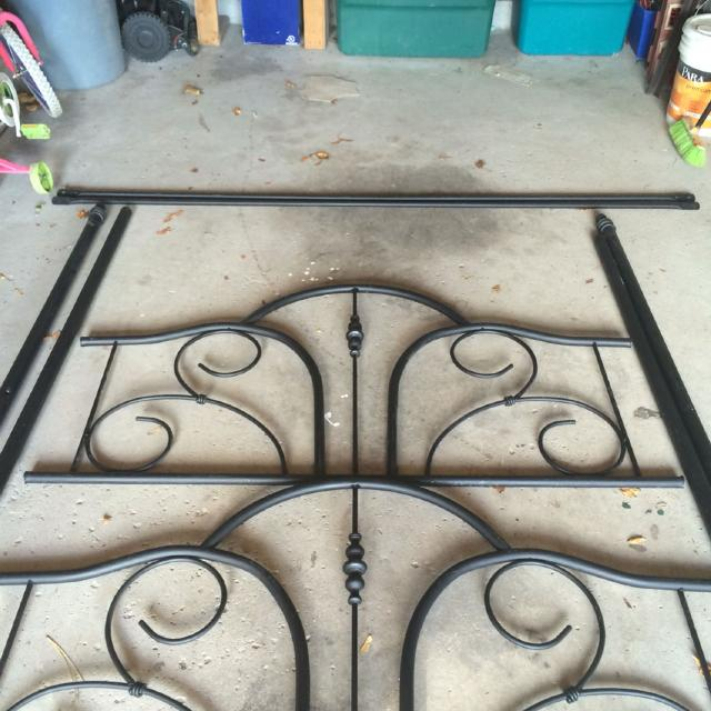 Find More Black Rot Iron Double Bed Frame No Screws To Assemble It