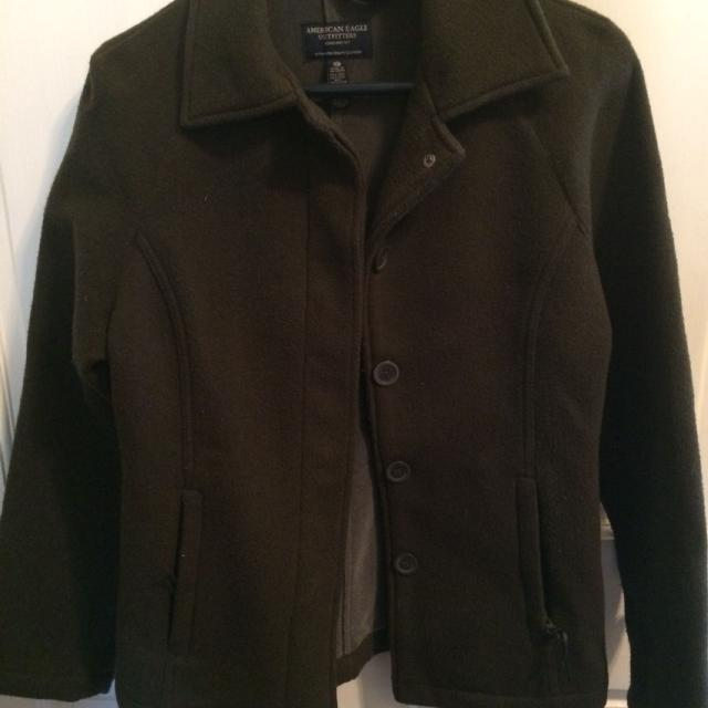 143d75325d02 Ladies Dark Green Wool Short Jacket from American Eagle Outfitters XS like  new condition REDUCED