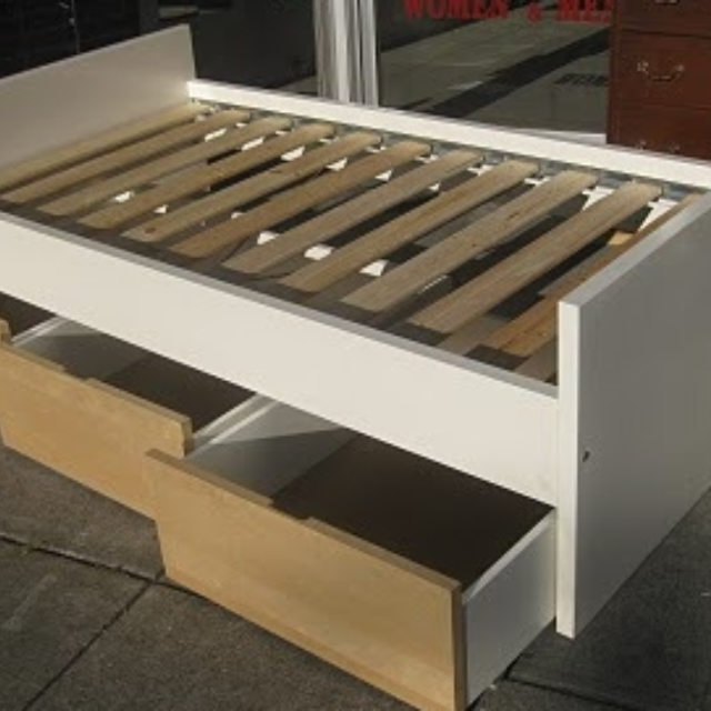Find More Single Bed Ikea Brekke With Drawers For Sale At