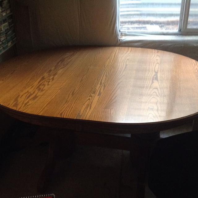 Best Amish Solid Oak Double Pedestal Dining Table For Sale In - Solid oak double pedestal dining table