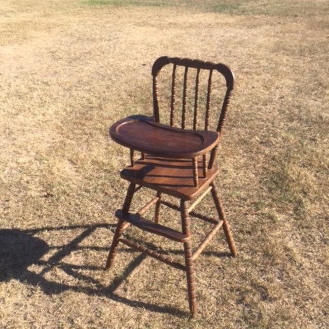 Baby High Chair All Wood No S Spool Legs Good
