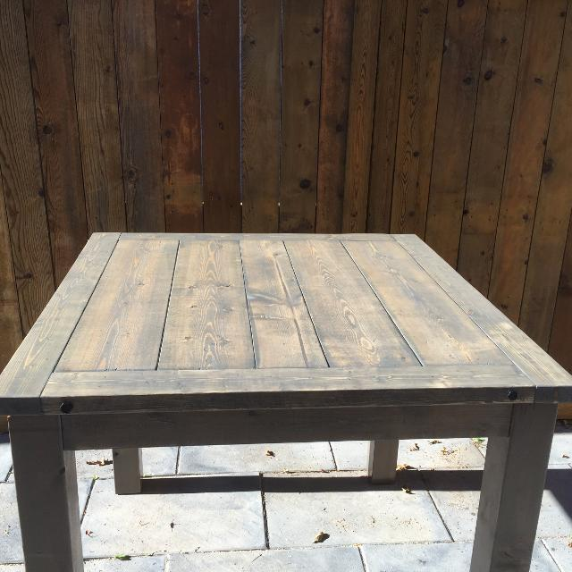 Best Rustic Brand New Pub Table X Solid Wood Distressed Look In - Distressed wood pub table