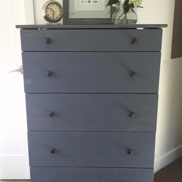 Ikea Tarva Dresser Chest With 5 Drawers In Weathered Gray Pine