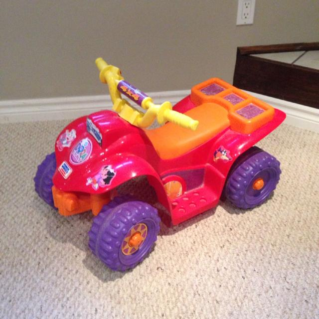 Dora power wheels 4 wheeler   newer battery  Always used indoors  From  clean smoke free home in Shelburne