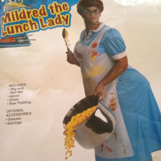 Best Mildred The Lunch Lady One Size Includes Wig With Hairnets A Dress Rear Padding For In Hendersonville Tennessee 2019