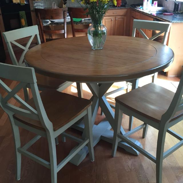 Find more Havertys Counter Height Dining Set W/ 6 Chairs for sale at ...