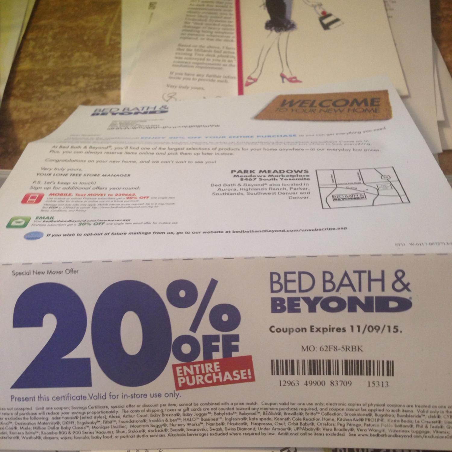 Best 20% Off Entire Purchase At Bed Bath And Beyond For