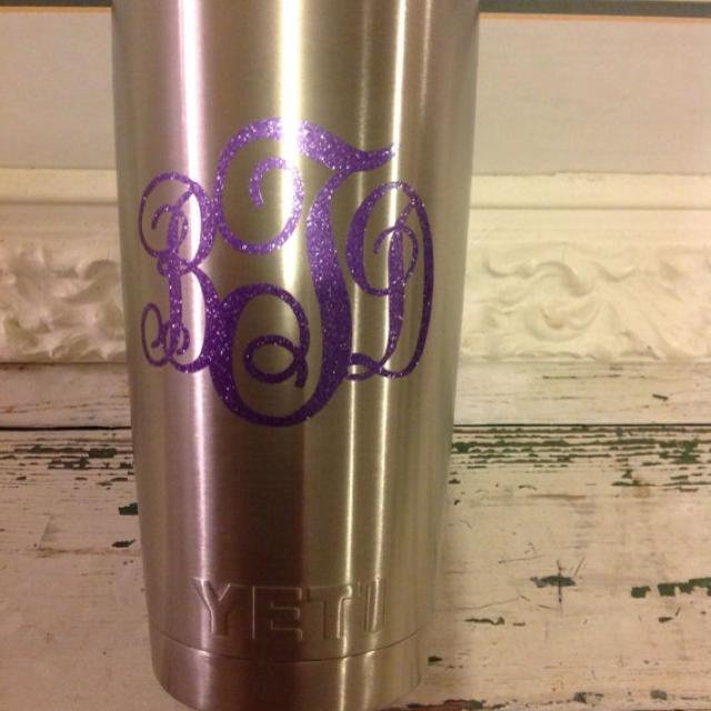 Best Vinyl Personalized Initial Monograms For Your Yeti Cups For - Best vinyl for cups