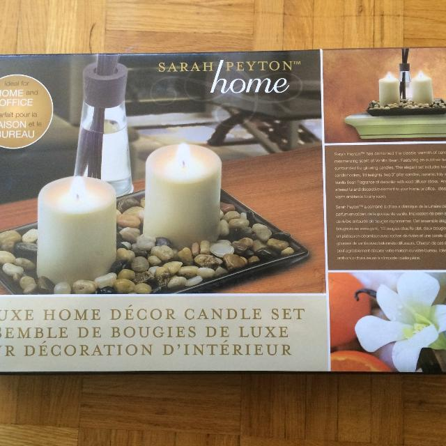 Best Sarah Peyton Deluxe Home Decor Candle Set For Sale In Brampton Beauteous Candle Home Decor Decor