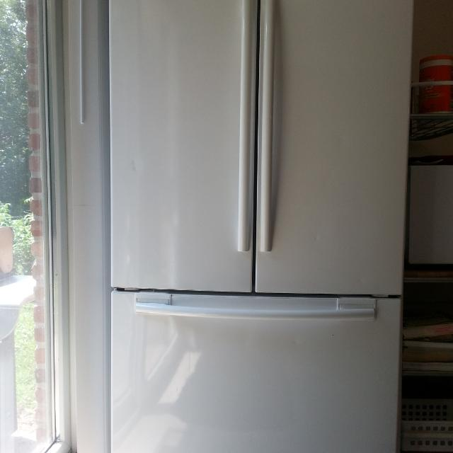 Best Samsung 26 Cu Ft White Refrigerator Model Rf266 French Doors