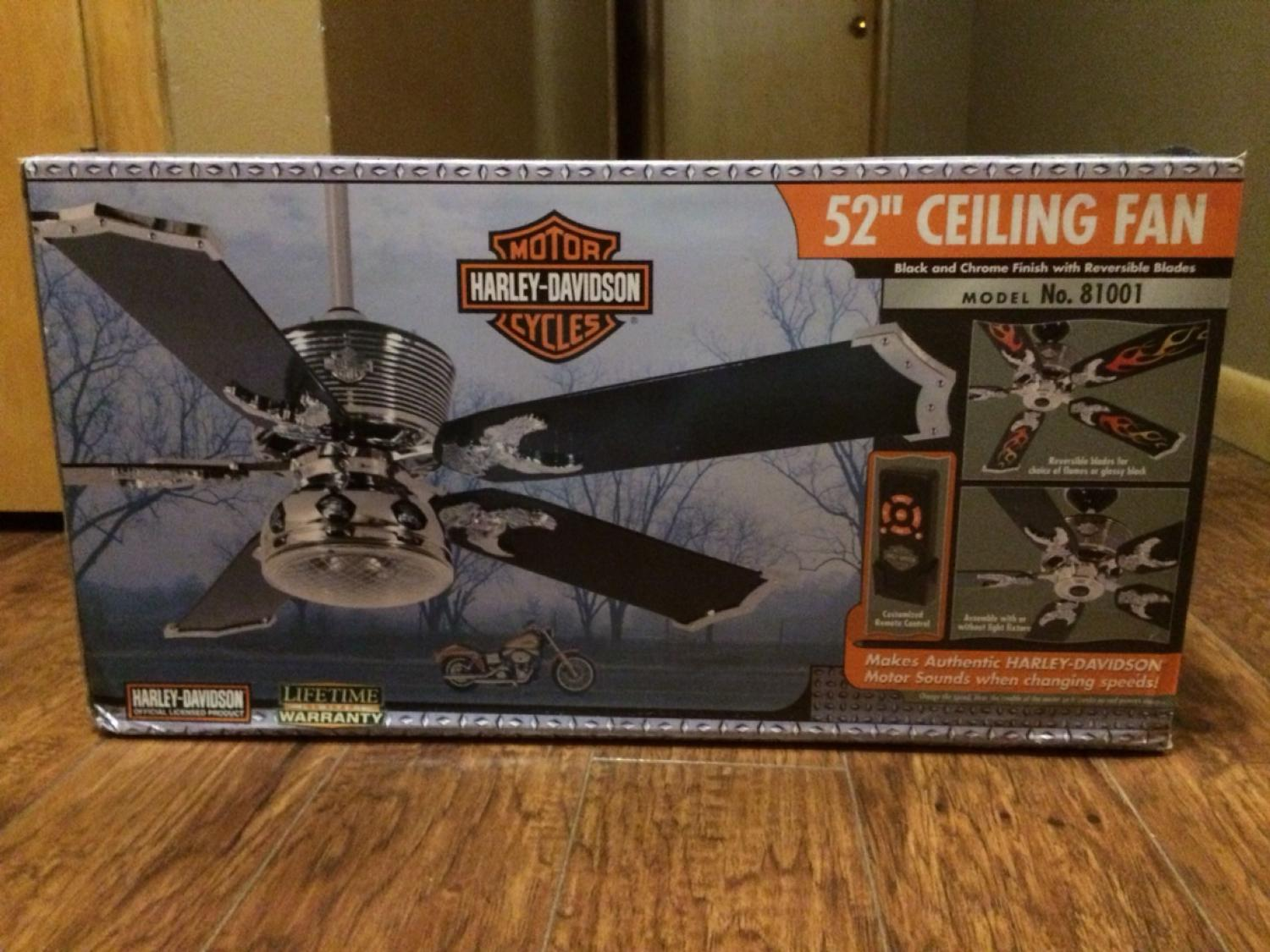 Find More 52 Quot Harley Davidson Remote Control Ceiling Fan