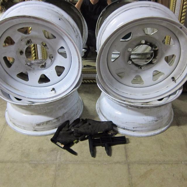 Steel Wheels For Sale >> Find More 16x7 White Steel Wheels 6x5 5 Lp For Sale At Up To 90 Off