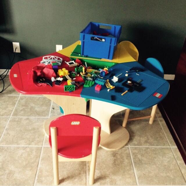 Find more Lego Brand Lego Table With 3 Chairs And 2 Bins Of Legos ...