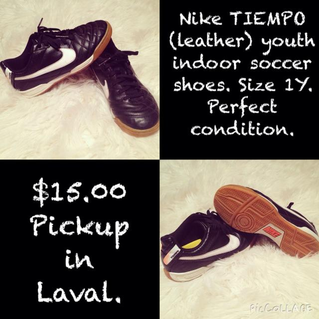 96502a4e1ef Find more Nike Tiempo Youth Indoor Soccer Shoes. Size 1y. Perfect ...