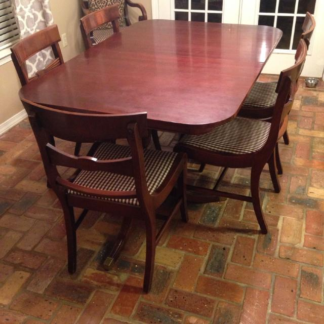 New Price Drop Antique Duncan Phyfe Dining Table 6 Chairs