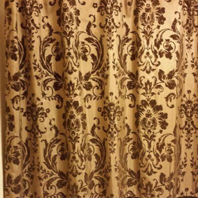 Nicole Miller Shower Curtain Oil Rubbed Bronze Rod And Fleur De
